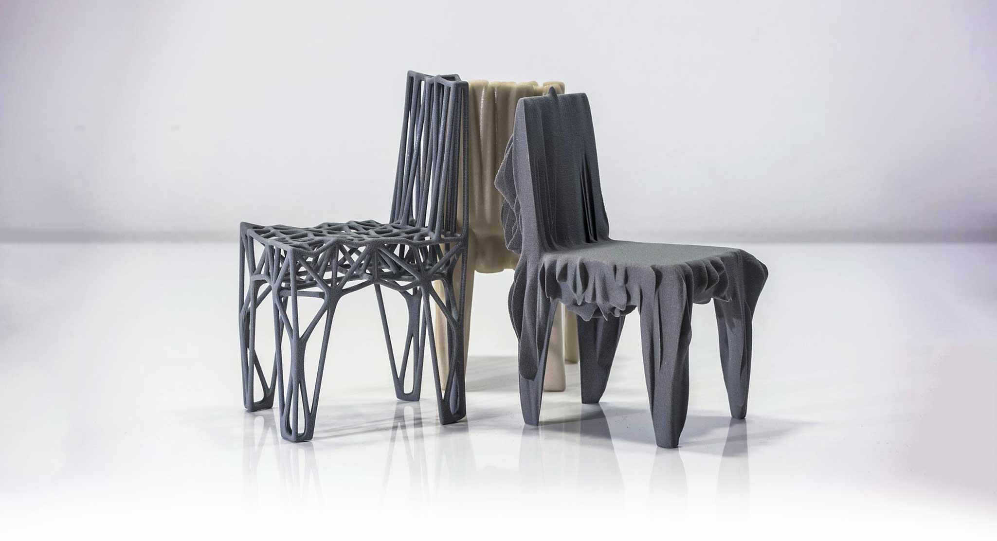 3d-gedruckte Stühle