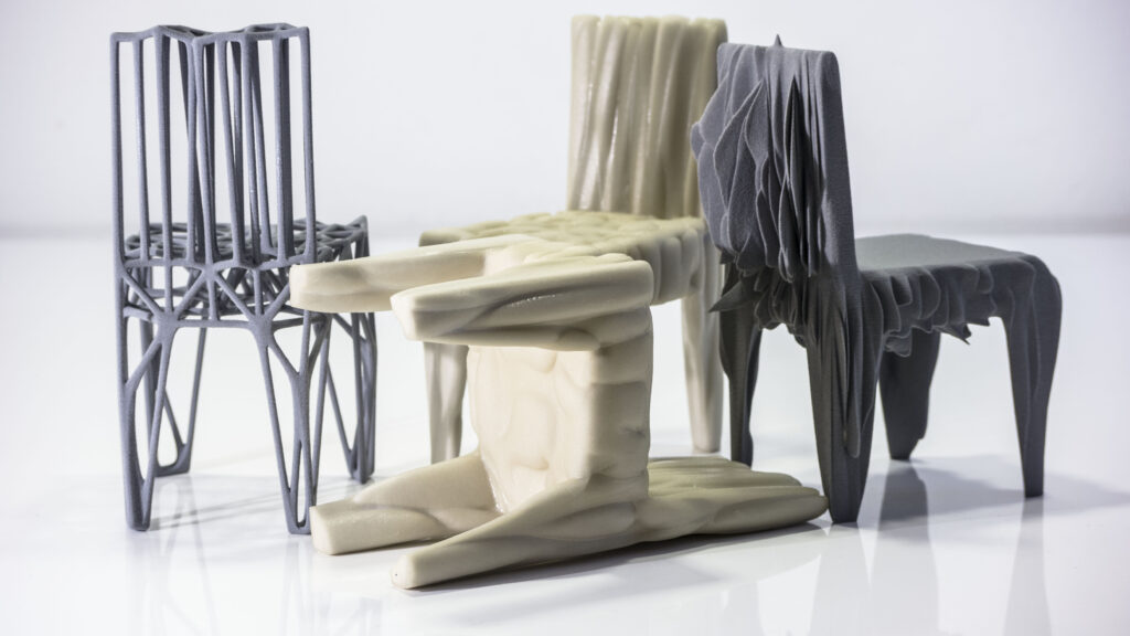Komplett 3d-gedruckte Stühle